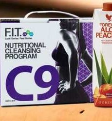 gamme fitness C 9 aloe pêche forever