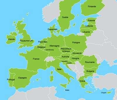 carte d' europe ou on peut devenir distributeur forever