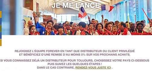 inscription client privilégié forever living